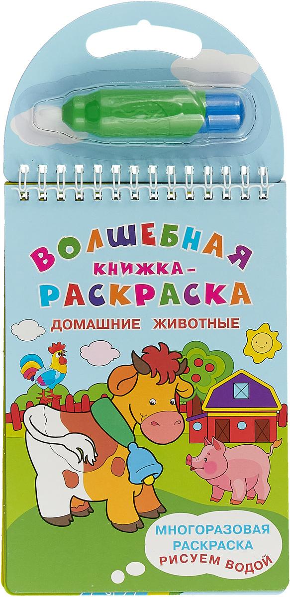 волшебная книжка раскраска домашние животные