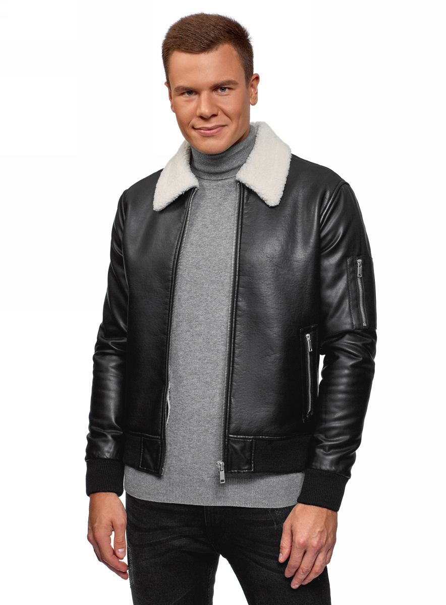 Кожаная куртка oodji #1