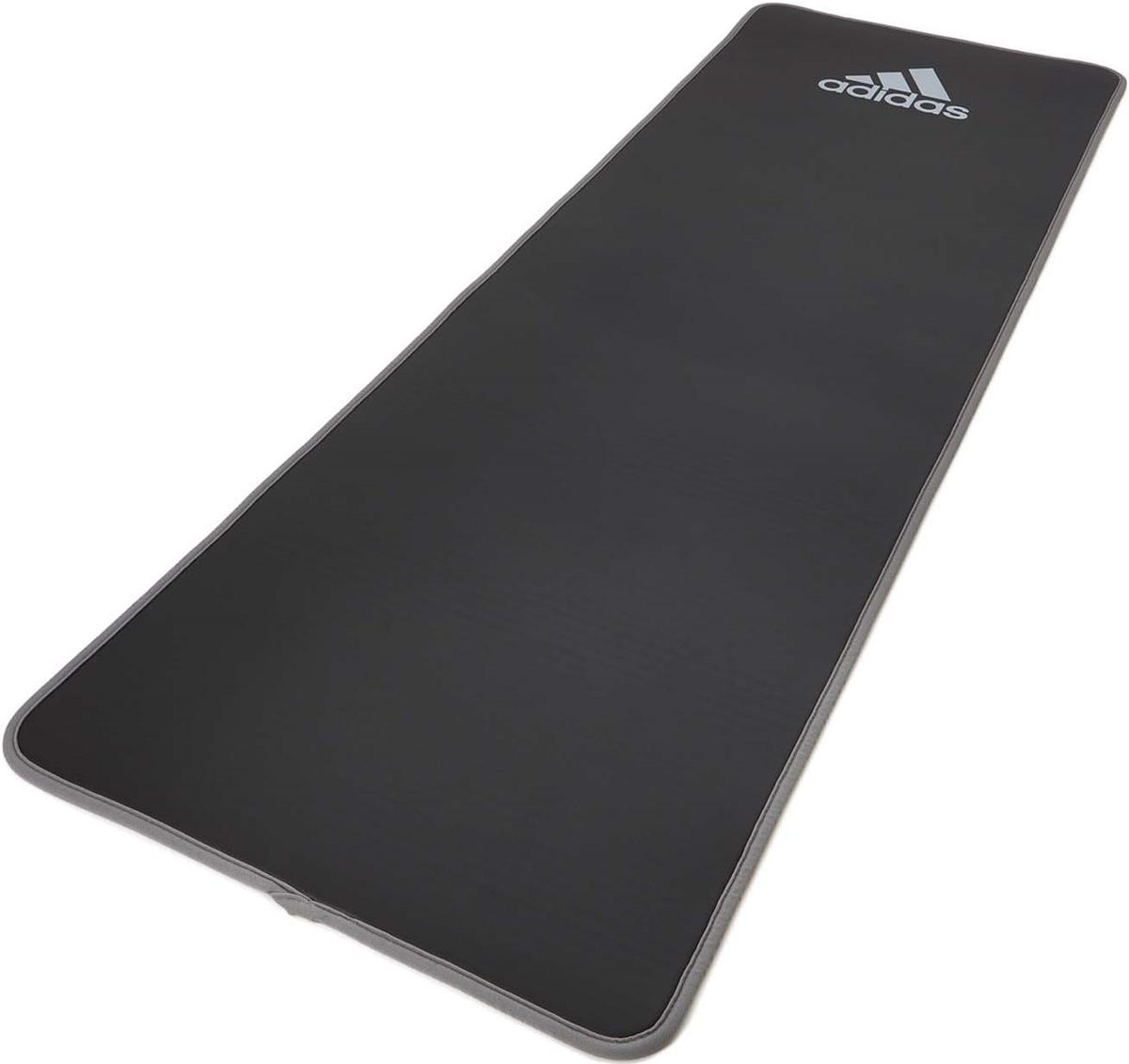 Коврик тренировочный Adidas, толщина 10 мм, длина 183 см, серый  #1