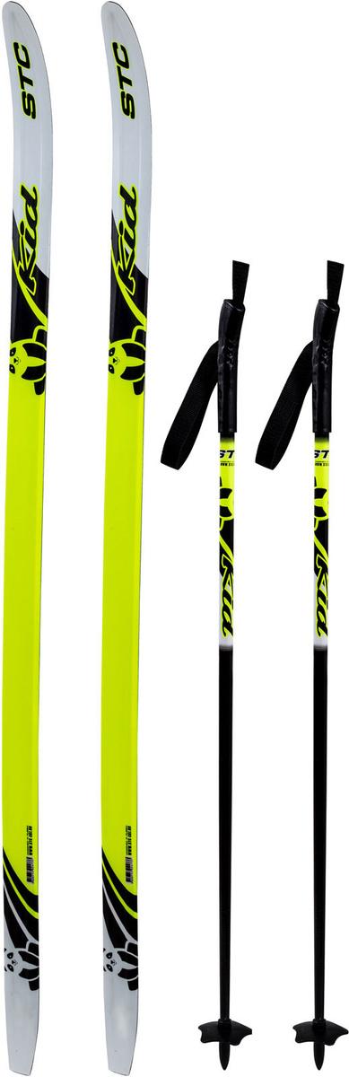 Комплект лыжный детский STC Set/Combi с универсальными креплениями и палками, 130 см  #1
