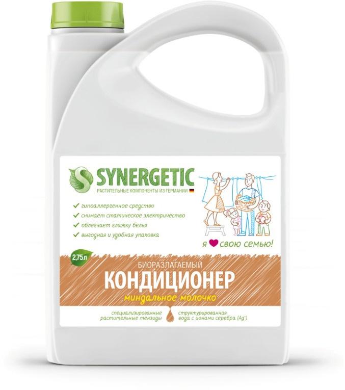 Synergetic Кондиционер для белья, Миндальное молочко, 2,75 л. #1