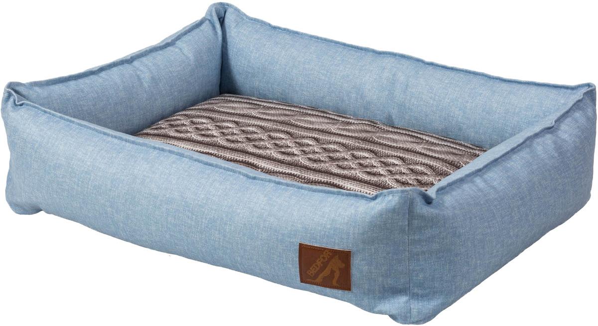 Лежанка Bedfor со съемными чехлами, цвет Голубой, размер 60*45 см  #1