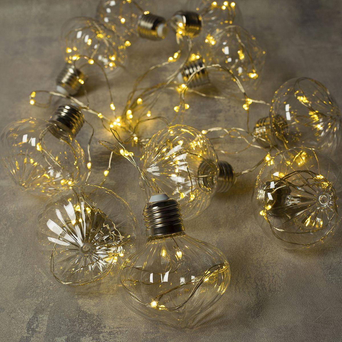 Электрическая гирлянда Luazon Lighting Светодиодная 100 ламп, 4.5 м  #1