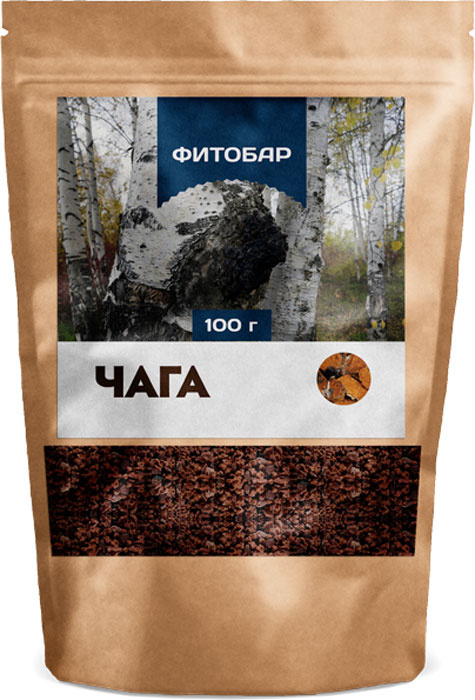 Чага - №32 Фитобар Чайный напиток Фитобар, 100 г #1