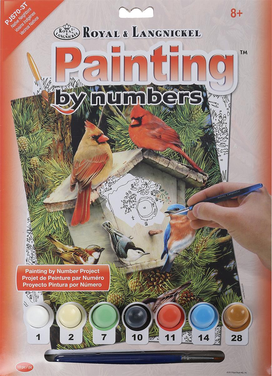 Royal & Langnickel Картина по номерам Птицы у скворечника ...