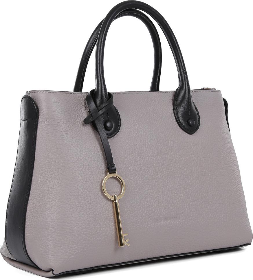 99f7cbaeda5d Сумка женская Leo Ventoni, цвет: серый, черный. 23004539 — купить в  интернет-магазине OZON.ru с быстрой доставкой