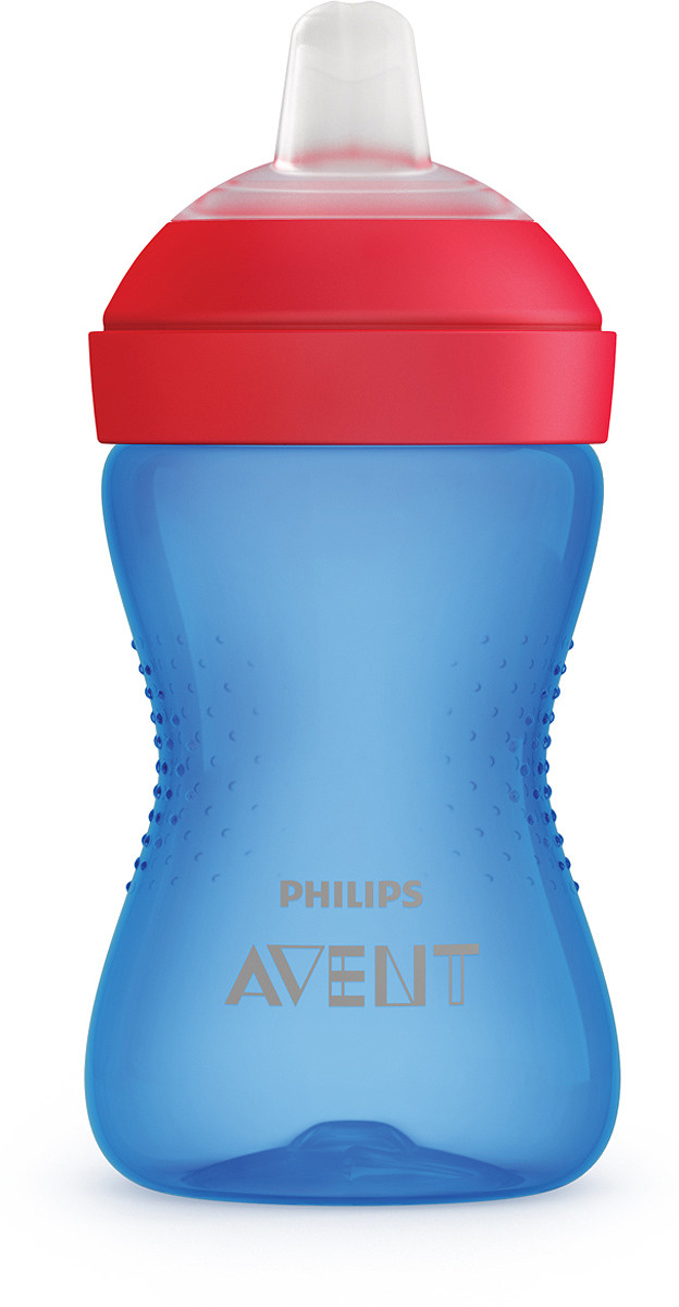Поильник с мягким носиком Philips Avent SCF802/01, синий, от 9 месяцев, 300 мл  #1
