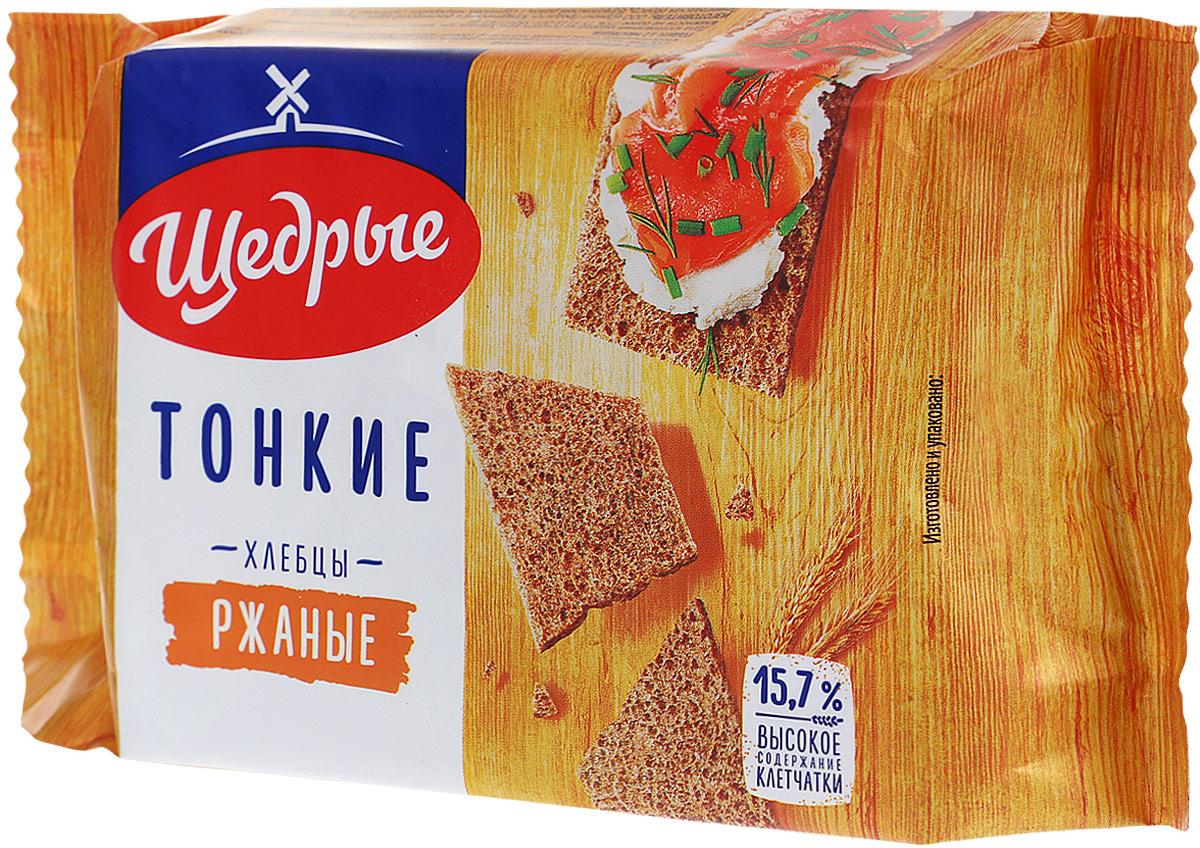 Щедрые хлебцы тонкие ржаные, 170 г #1