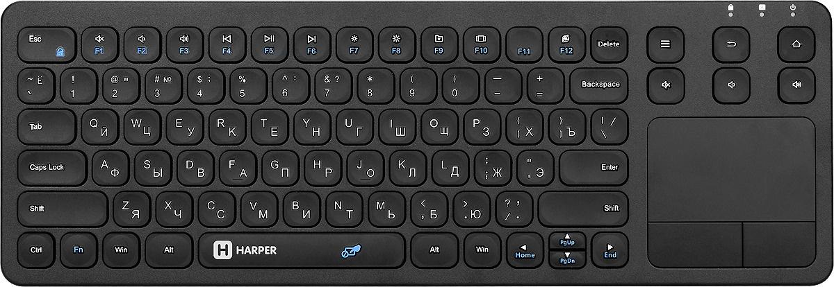 Клавиатура Harper KBT-570, беспроводная для Smart TV, H00002196, Black #1