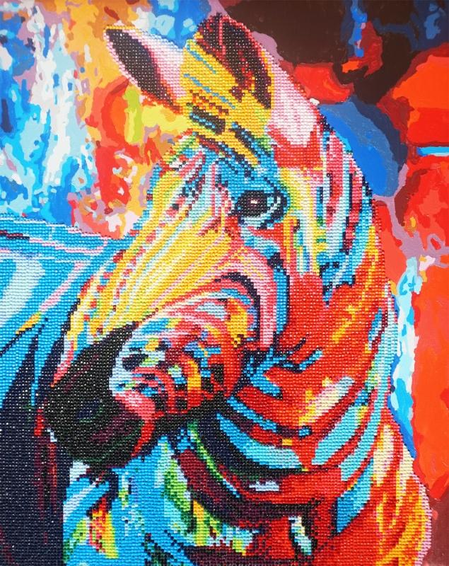 алмазная мозаика Color Kit алмазная картина раскраска 2 в 1 Ra009