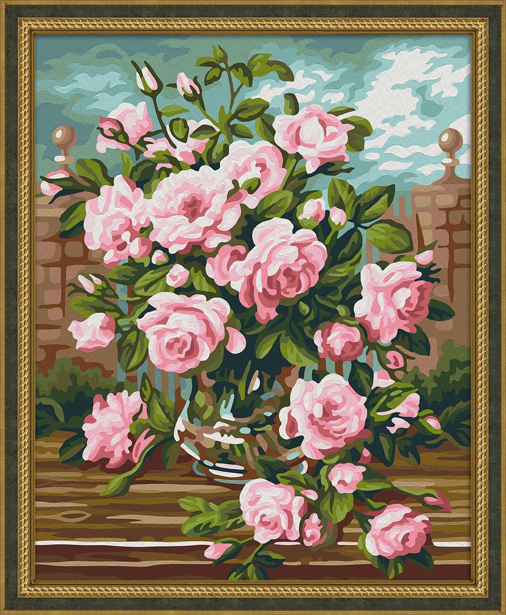"""Набор для рисования по номерам Мосфа """"Розовый букет"""", 40 х 50 см  #1"""