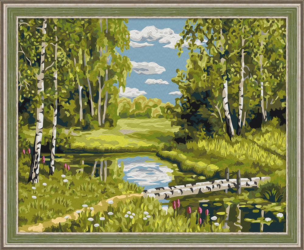 """Набор для рисования по номерам Мосфа """"Березовый мостик"""", 40 х 50 см  #1"""