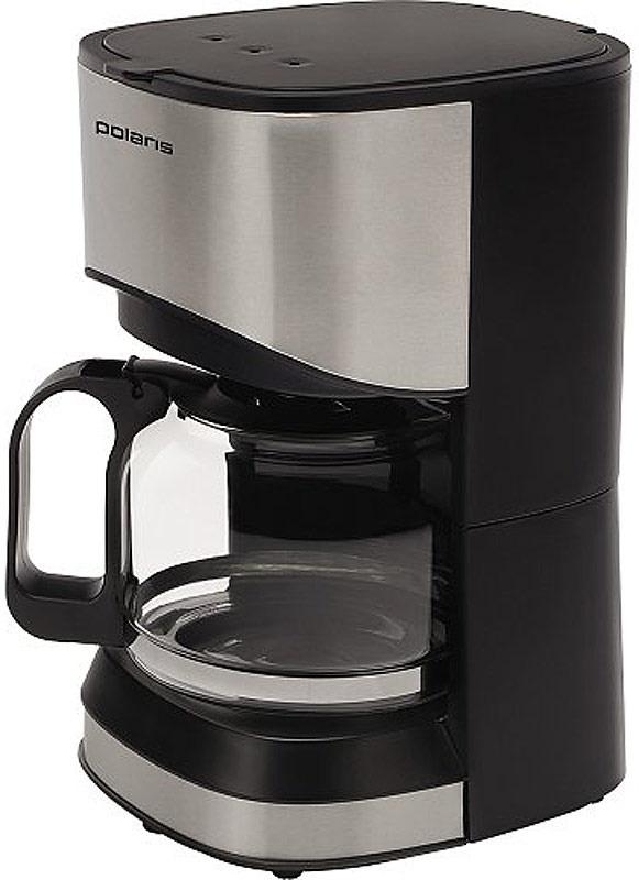 Кофеварка электрическая Капельная Polaris 658642, серый металлик, черный  #1