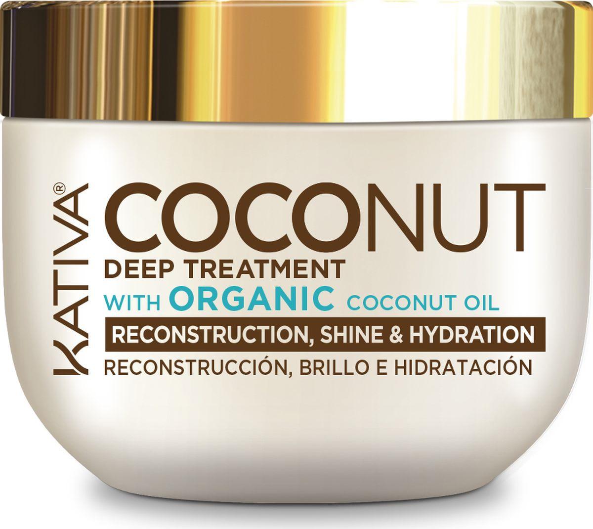 Маска Kativa Coconut, восстанавливающая, с органическим кокосовым маслом, для поврежденных волос, 250 #1