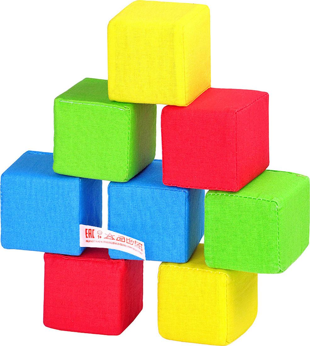Мягкие кубики 4 цвета, 8 кубиков, Мякиши #1
