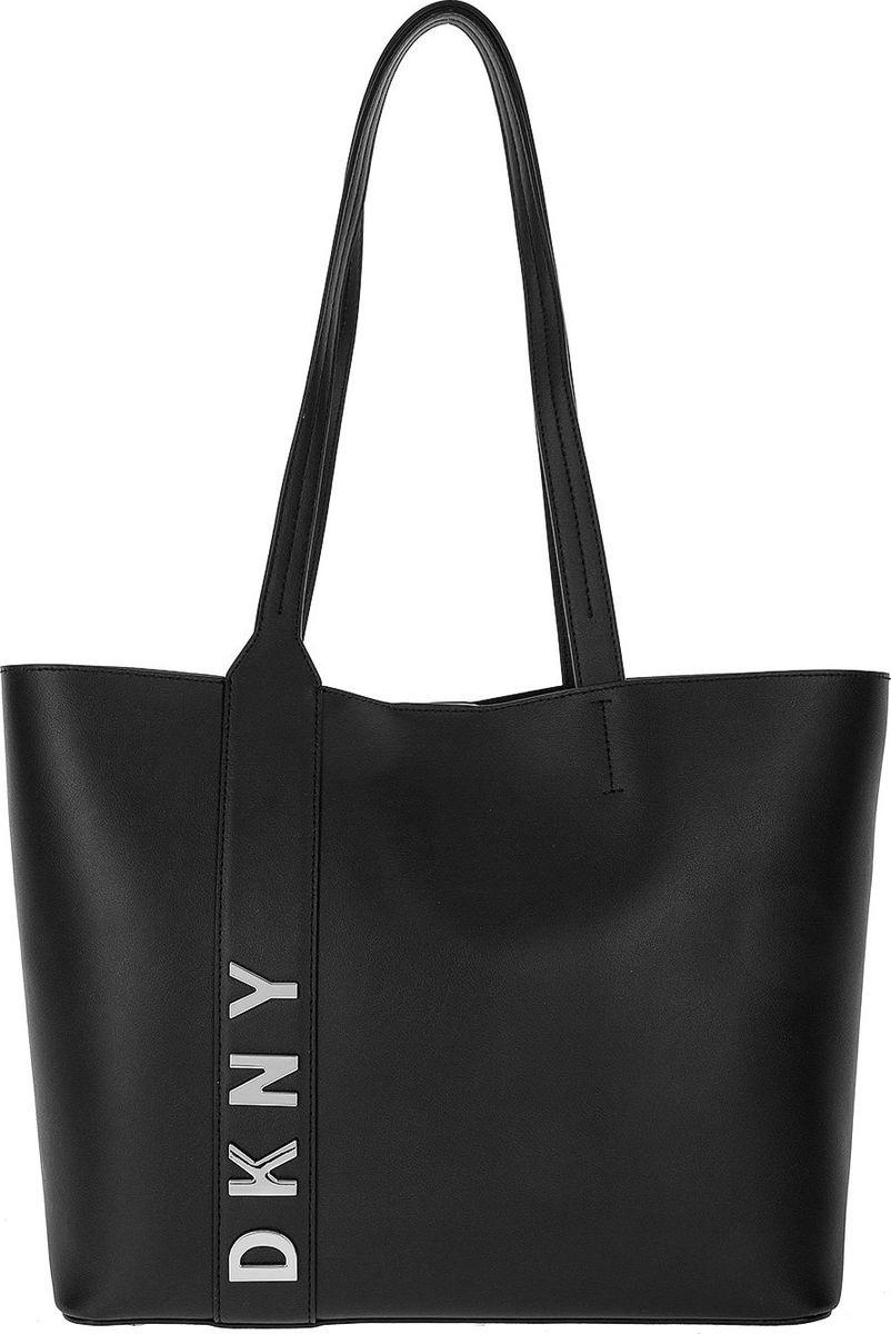f00b4a9cd8bb Сумка женская DKNY, R83AH641/BSV, черный, серебристый — купить в интернет- магазине OZON.ru с быстрой доставкой