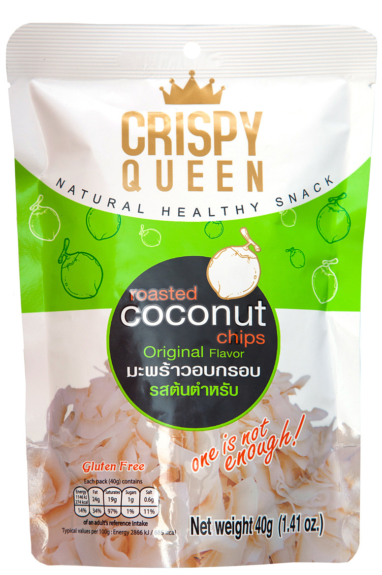 Чипсы кокосовые запеченые CRISPY QUEEN, 40 г #1