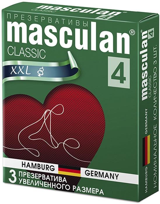 Masculan 4 презервативы Classic №3, XXL, увеличенного размера #1