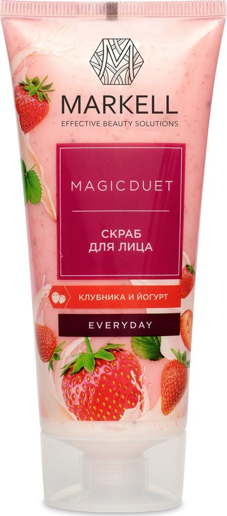 Markell Скраб для лица MAGIC DUET клубника и йогурт, 100 мл #1