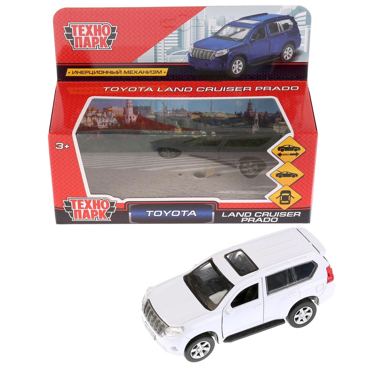 bc85925ed58e Машина Технопарк Toyota Prado, 259361, белый, 12 см — купить в интернет- магазине OZON.ru с быстрой доставкой