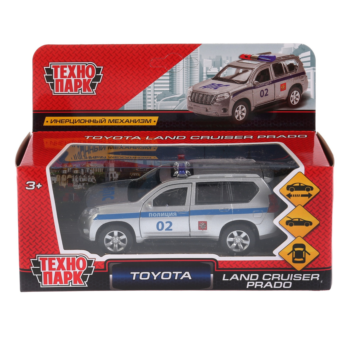 e663bd796b41 Машина Технопарк Toyota Prado, 259358, серебристый, синий, 12 см — купить в  интернет-магазине OZON.ru с быстрой доставкой