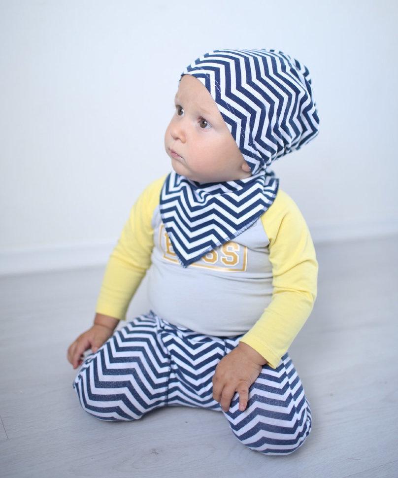 Шейный платок Trendyco Kids ТК131 индиго, белый, 0/3г размер #1