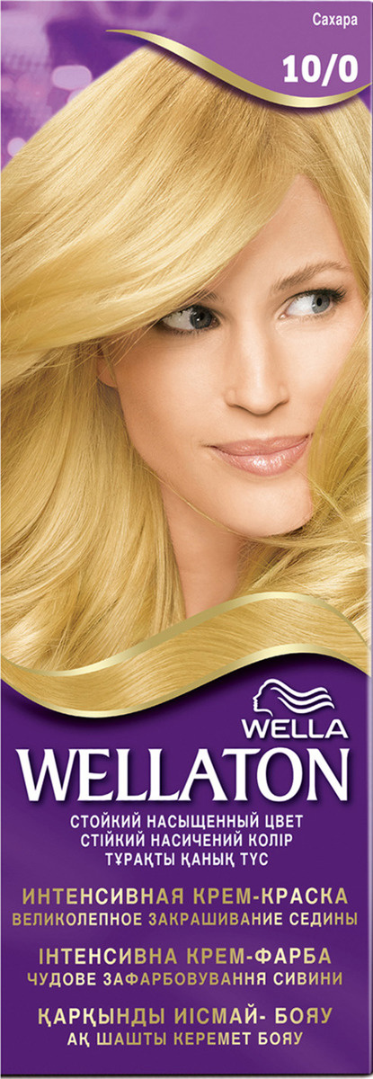 Wellaton Крем-краска для волос стойкая, 10/0 сахара #1