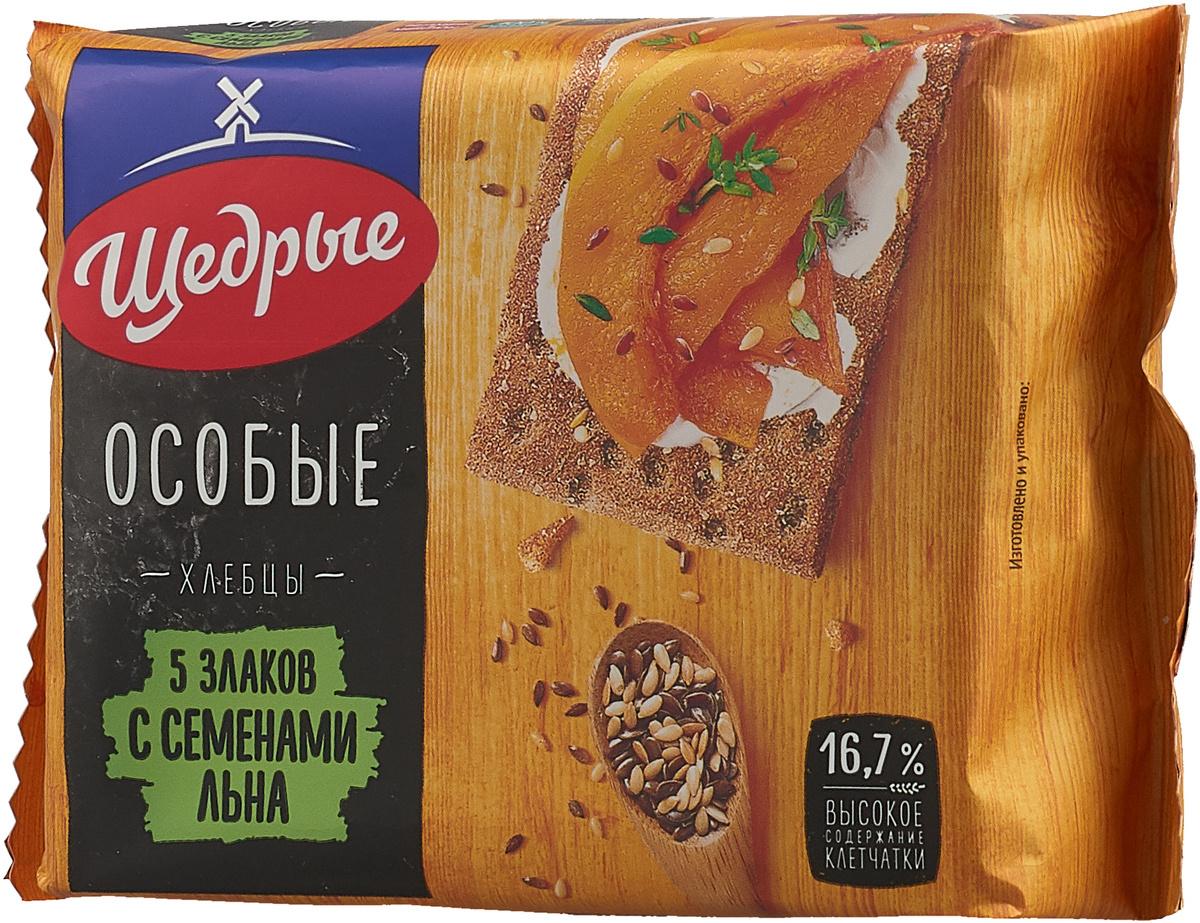Щедрые хлебцы 5 злаков с семенами льна, 200 г #1