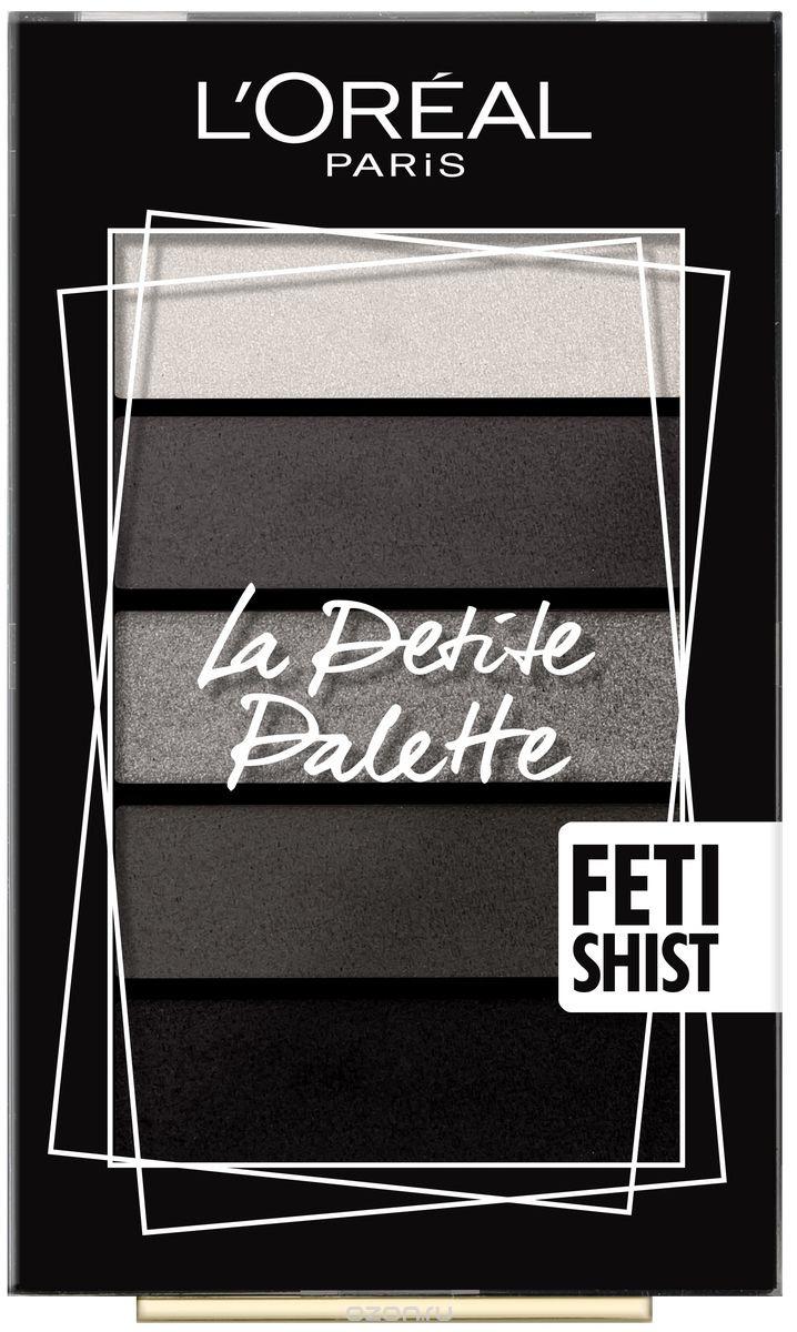Мини-палетка теней для век L'Oreal Paris La Petite Palette, 5 цветов, оттенок 06, Одержимость  #1