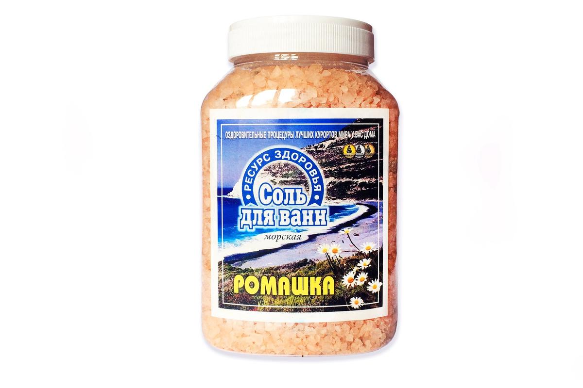 """Соль для ванны ТМ """"Ресурс Здоровья"""" Ромашка, 1 700 г #1"""