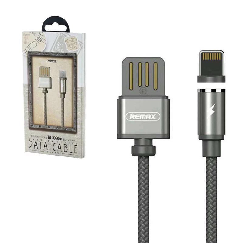 Кабель REMAX rc-095  lightning, Remax Rc-095 cable apple lightning black, черный #1