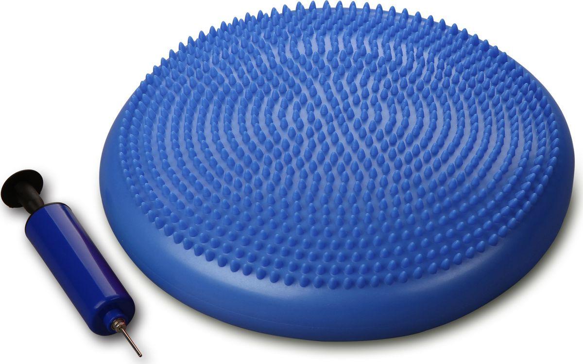 """Диск массажный балансировочный Indigo """"Равновесие"""", 00027665, с насосом, синий, диаметр 33 см  #1"""