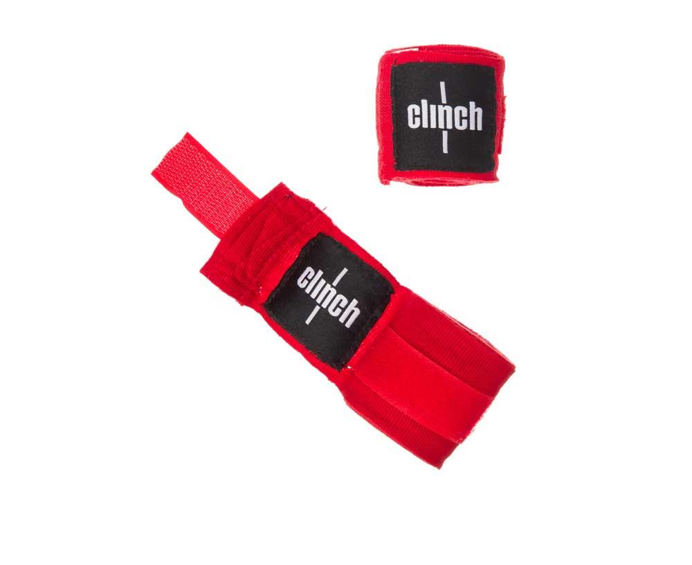 Бинт боксерский Clinch Boxing Crepe Bandage Punch, красный, 3.5 м #1