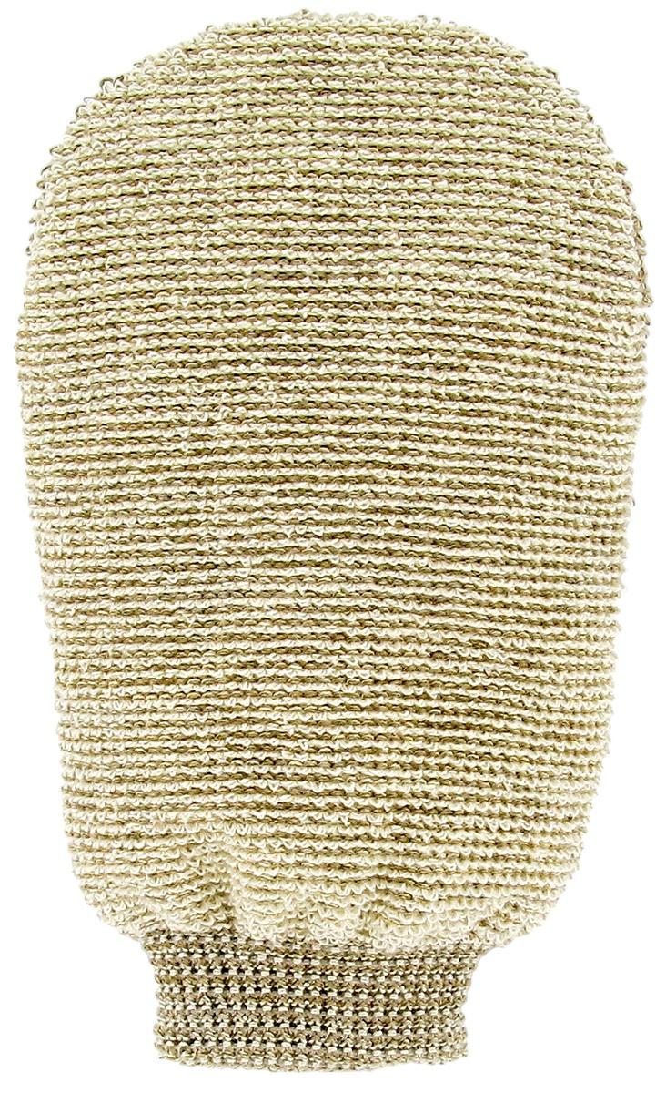 FOERSTERS Массажная мочалка-варежка двухсторонняя из органического льна и бамбука  #1