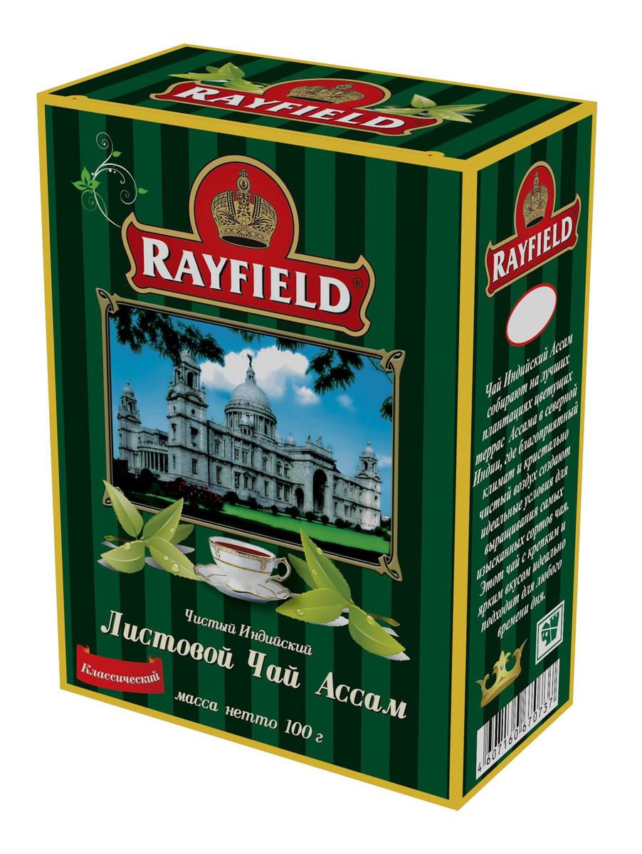 RAYFIELD Листовой Чай Ассам Классический Чистый Индийский 100 г  #1
