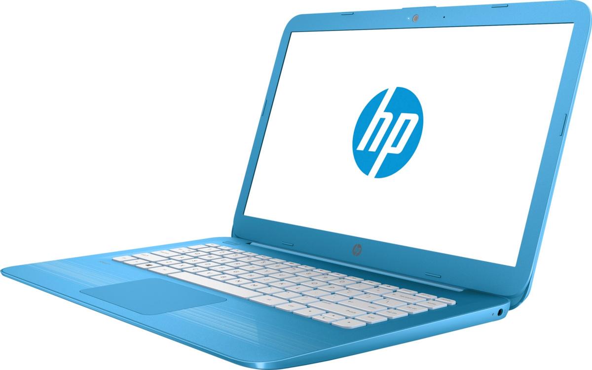 """14"""" Ноутбук HP Stream 14-ax011ur (2EQ28EA), голубой Intel Celeron N3060 / RAM 2GB / SSD 32Gb / noODD #1"""