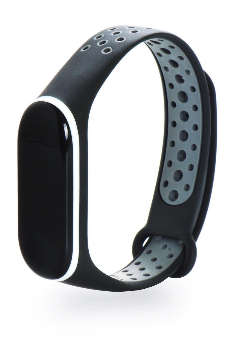 68815dcc Ремешок для смарт-часов Gurdini силиконовый 908148 для фитнес браслета  Xiaomi Mi Band 3, черный — купить в интернет-магазине OZON.ru с быстрой  доставкой