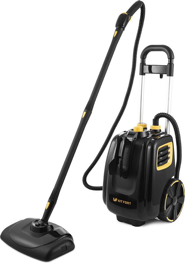 Пароочиститель Kitfort КТ-933, черный, желтый #1