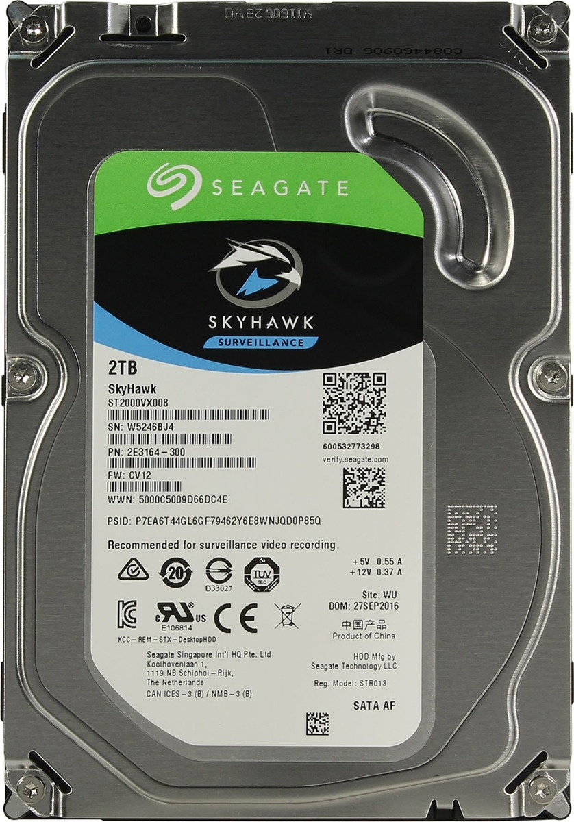 2 ТБ Внутренний жесткий диск Seagate SkyHawk (ST2000VX008) #1