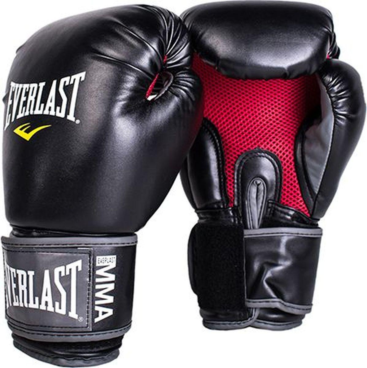 Боксерские перчатки Everlast Pro Style Muay Thai, 7012, черный, вес 12 унций  #1