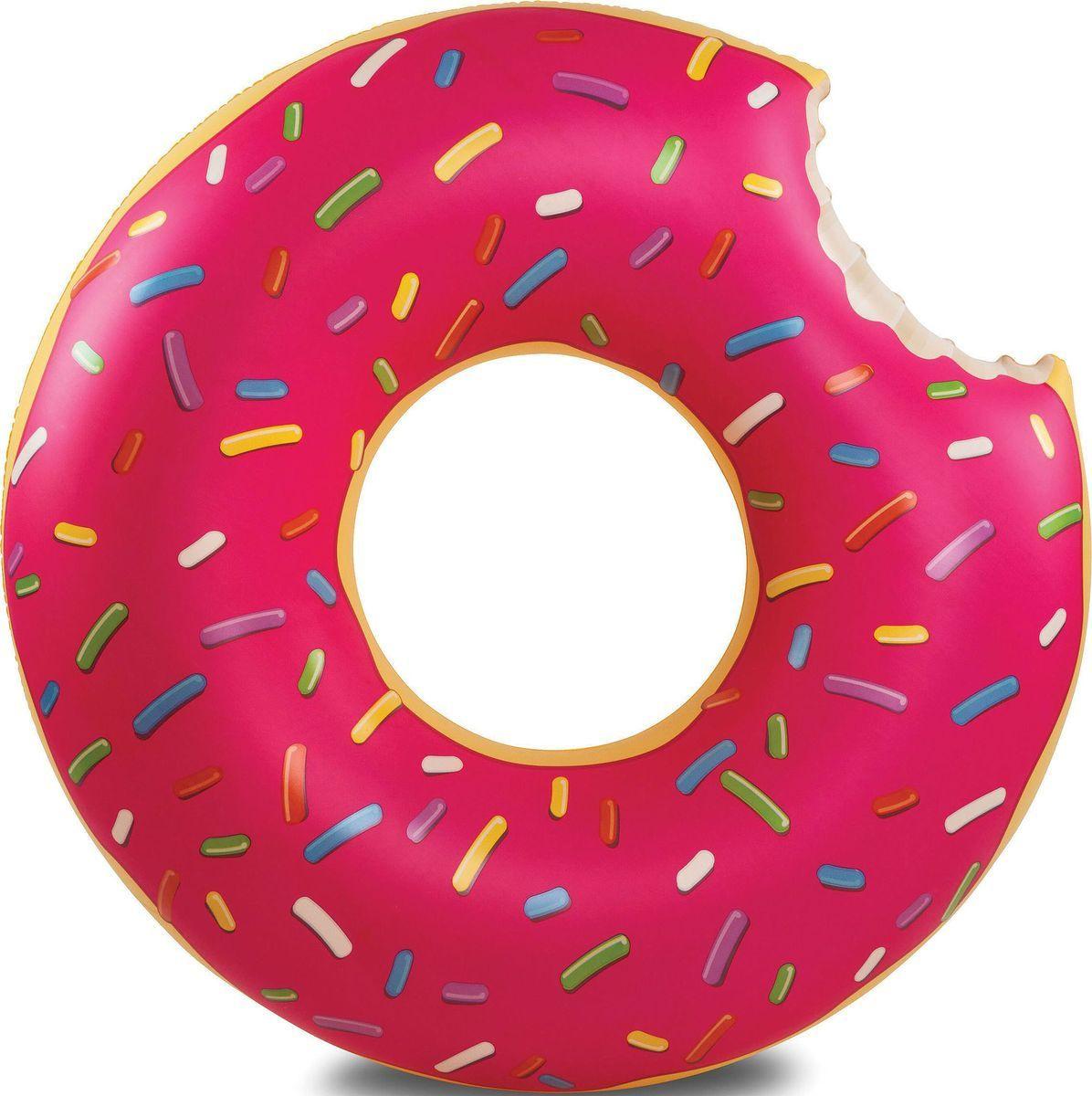 """Круг надувной пончик Радуга """"Клубничный пончик"""", 120см #1"""