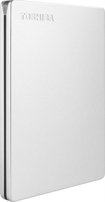 2 ТБ Внешний жесткий диск Toshiba Canvio Slim (HDTD320ES3EA), серебристый  #1