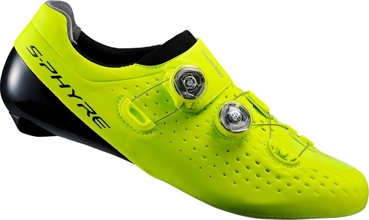 Велотуфли мужские Shimano, цвет: желтый. SH-RC900. Размер 42,5 (41,5)  #1