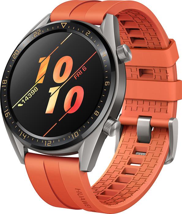 5e6f47d028b1d Умные часы Huawei Watch GT Active, оранжевый — купить в интернет-магазине  OZON с быстрой доставкой