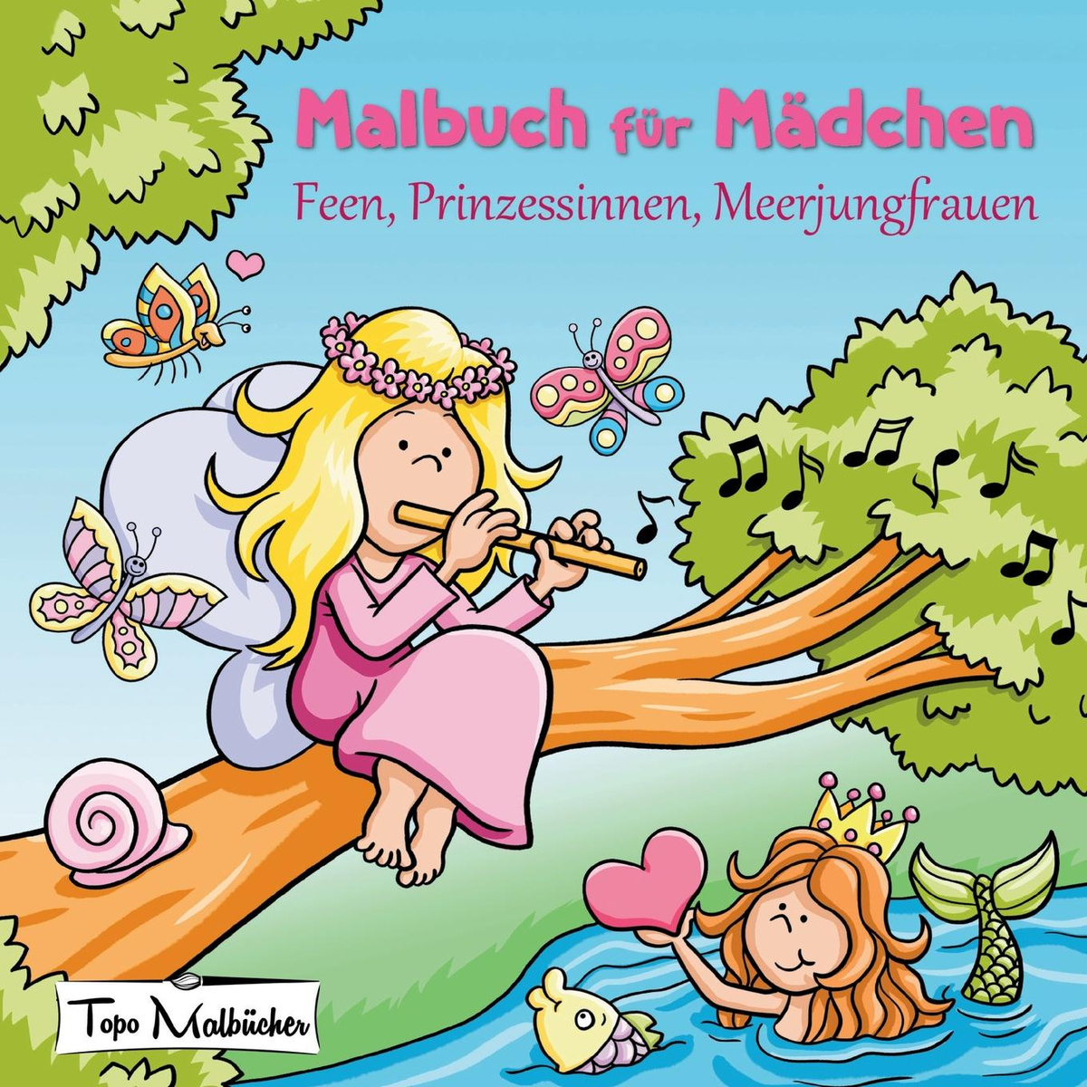 Malbuch Fur Madchen Feen Prinzessinnen Meerjungfrauen