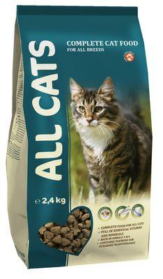 Сухой корм ALL CATS для кошек 2,4кг #1
