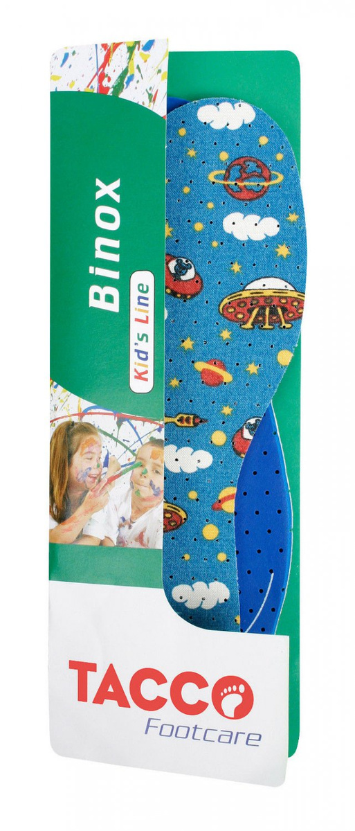 Стельки для обуви Tacco Footcare BINOX Kids р. 34-35, Латекс #1