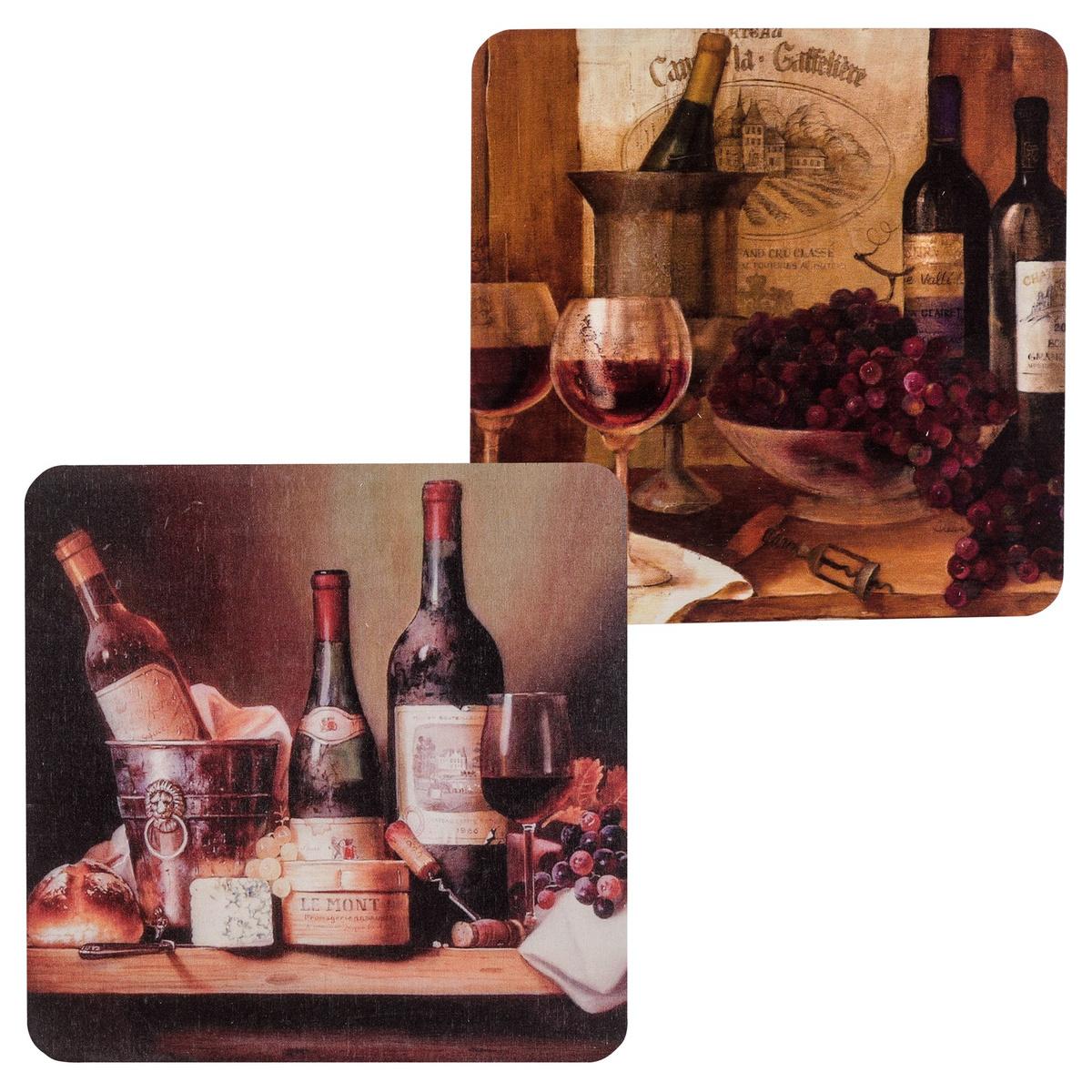 STR2- Vintage Wines Набор из 2-ух подставок под горячее #1