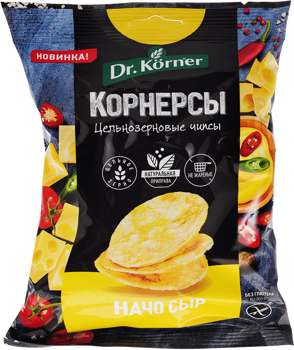 Чипсы Dr. Korner цельнозерновые, кукурузно-рисовые с сыром начо, 50 г  #1
