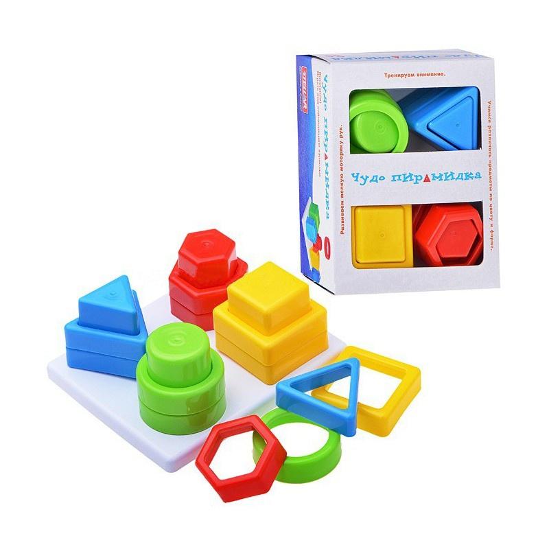 """Пирамидка детская развивающая игрушка """"Чудо-пирамидка"""", Stellar, для малышей от 1 года  #1"""